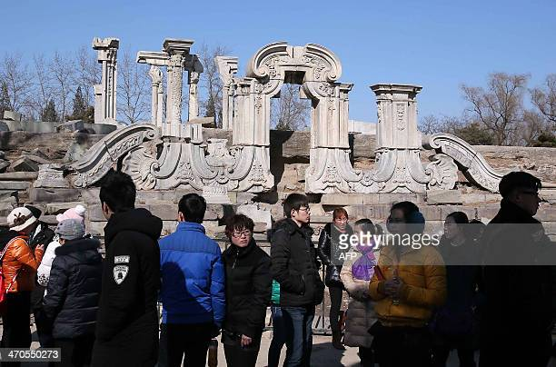 CHINANORWAYCULTUREHISTORYPOLITICS FOCUS BY FELICIA SONMEZ Visitors gather before the Great Fountain Ruins in the Old Summer Palace known in Chinese...