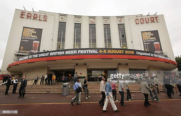 Visitors gather for The Great British Beer Festival on August 4, 2009 in London. The festival is organised by CAMRA who have 100,000 members....