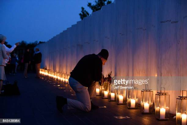 Visitors gather to pay respects during the Flight 93 National MemorialÕs annual Luminaria on the eve of 16th Anniversary ceremony of the September...