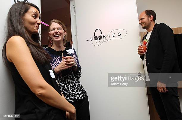 Visitors have drinks in a conference room named Cookies one of several in the office named after local dance clubs on September 26 2012 at the...