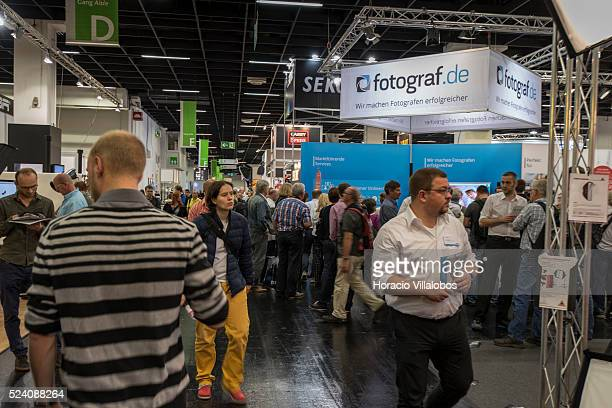 Visitors in Photokina 2014 in Cologne Germany 18 September 2014 Photokina the world's leading imaging fair brings together the industry trade...