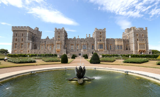 GBR: Windsor Castle's East Terrace Garden Opens To The Public - Photocall