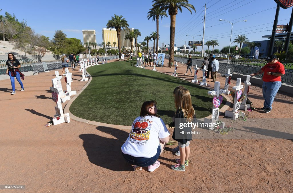 Las Vegas Marks Anniversary Of 10/1 Mass Shooting That Killed 58 : News Photo