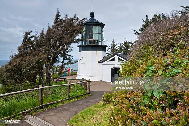 Visitors at Cape Meares Lighthouse