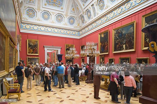 Visitors Looking at Paintings in State Hermitage Museum