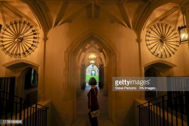 Visitors looks at the vaulted Inner Hall, created by George IV in the 1820s and revealed to the public for the first time in 150 years, one of the...