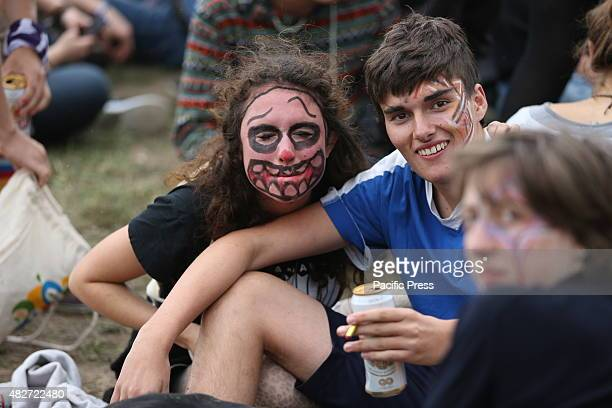 Visitors of the festival stop in Küstrin in Poland Woodstock Stop is a rock festival in the Polish Kostrzyn nad Odra Every year in August the...