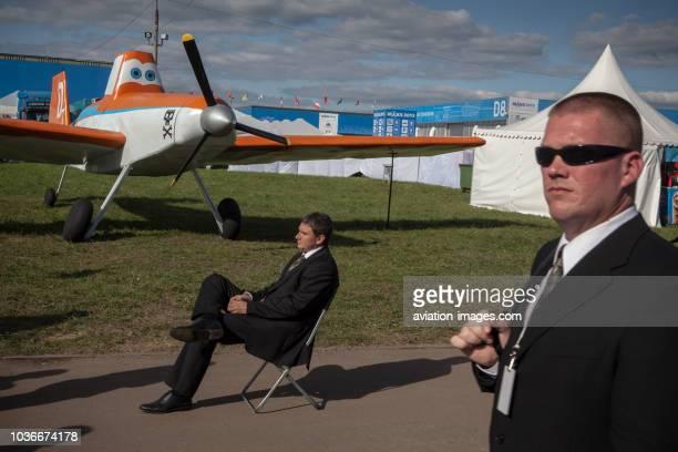 Visitors of the MAKS2013 international airshow near Zhukovsky Russia