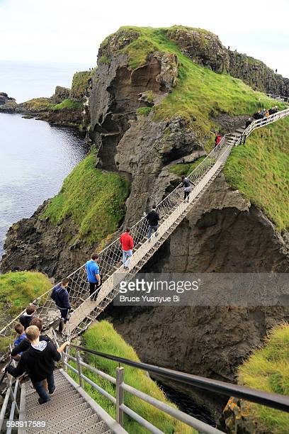 Visitors on Carrick-a Rede Rope Bridge