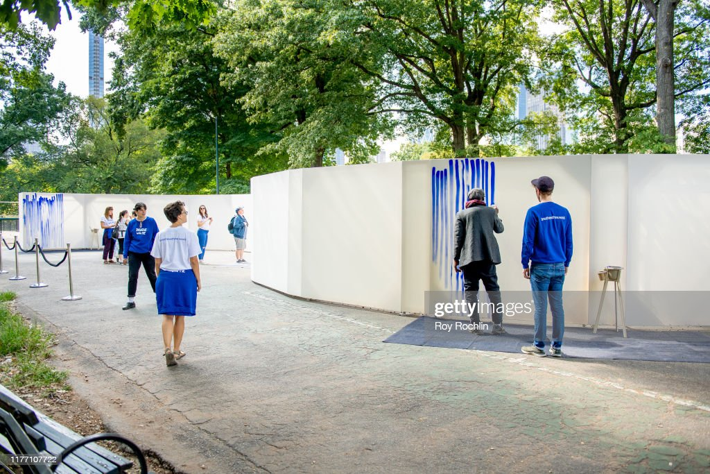 """Artist Jeppe Hein Opens """"Breath With Me"""" Installation In Central Park : News Photo"""
