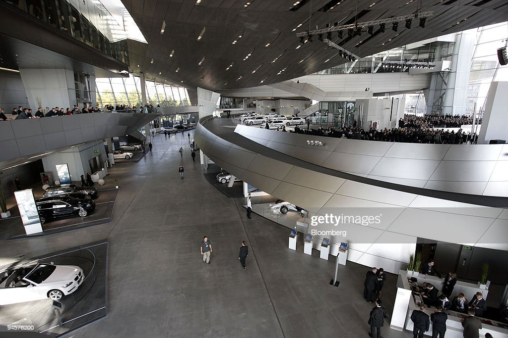 Visitors pass through the new BMW World customer center in M : News Photo