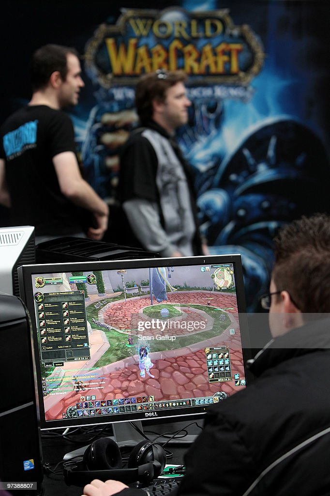Visitors play World of WarCraft in the gaming hall at the CeBIT Technology Fair on March 3, 2010 in Hannover, Germany. CeBIT will be open to the public from March 2 through March 6.