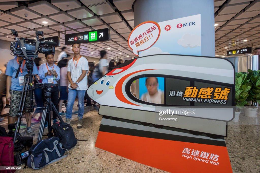 Preview of the Guangzhou-Shenzhen-Hong Kong Express Rail Link's West Kowloon Terminus : News Photo