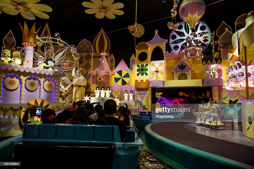 Inside The Walt Disney Co.'s Hong Kong Disneyland Park Ahead of GDP Figures : News Photo