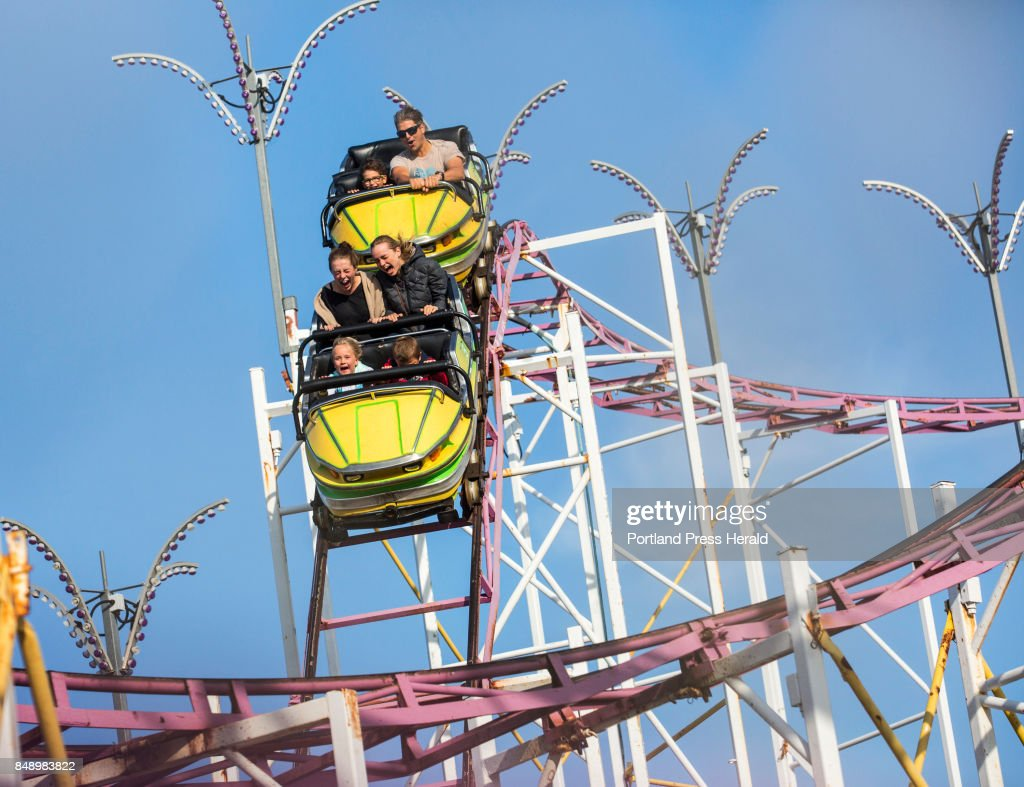The final rides on the Galaxi roller coaster in Old Orchard Beach ...