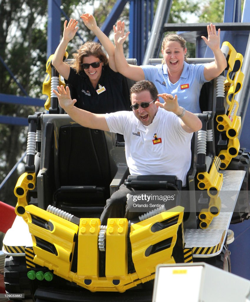 Florida S Legoland Visitors Ride The Lego Technic Test Track