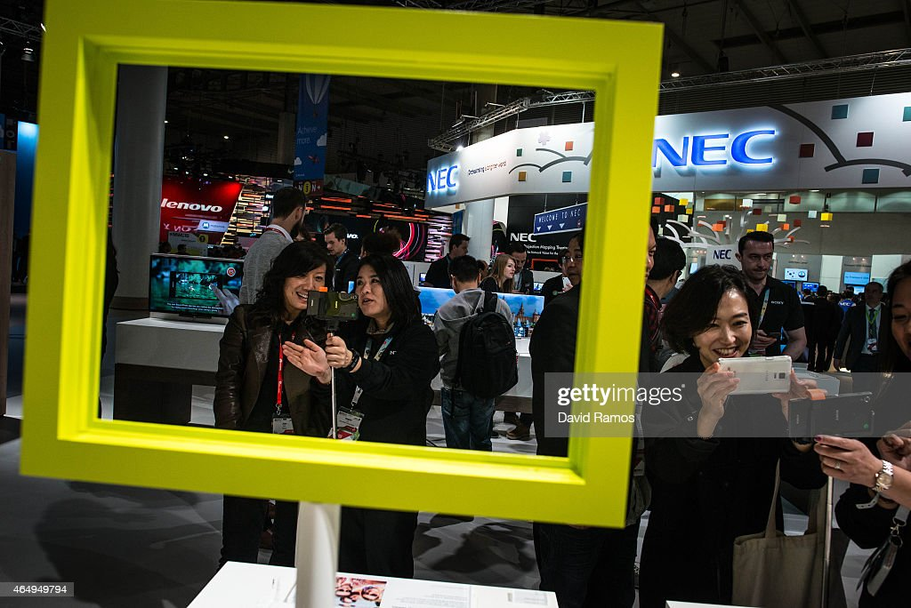 Visitors sample Sony devicces during the first day of the Mobile World Congress 2015 at the Fira Gran Via complex on March 2, 2015 in Barcelona, Spain. The annual Mobile World Congress hosts some of the wold's largest communication companies, with many unveiling their latest phones and wearables gadgets.