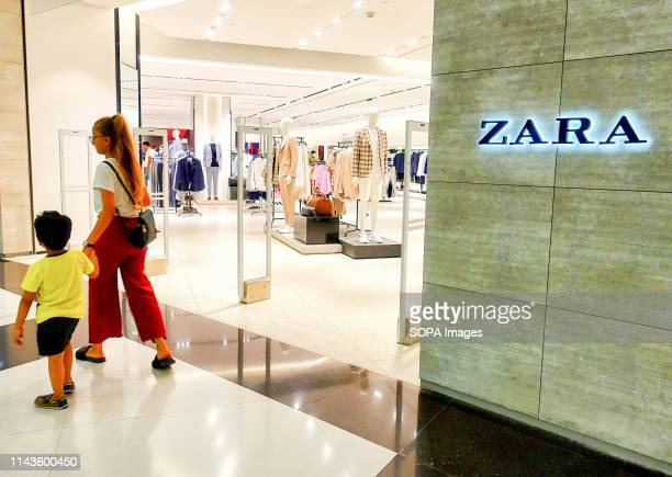 Visitors seen walking in front of ZARA Garments store at the South City Mall in Kolkata