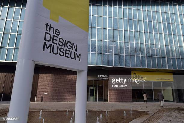 Visitors stand outside the new Design Museum during a media preview ahead of its official opening later this month, on November 17, 2016 in London,...