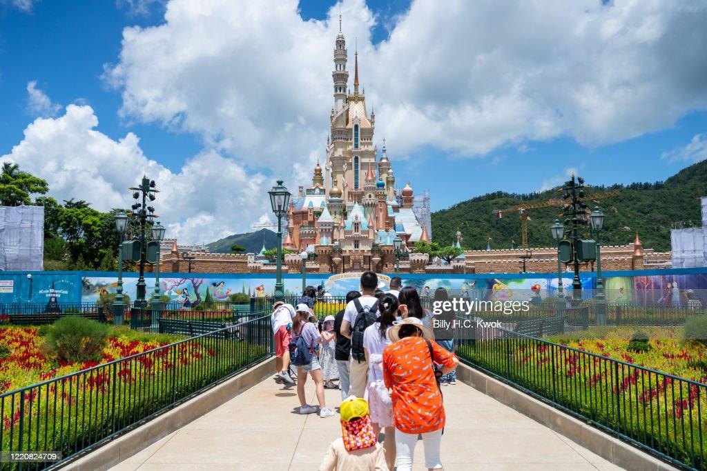 Hong Kong Disneyland Reopens Amid The Coronavirus Pandemic : News Photo