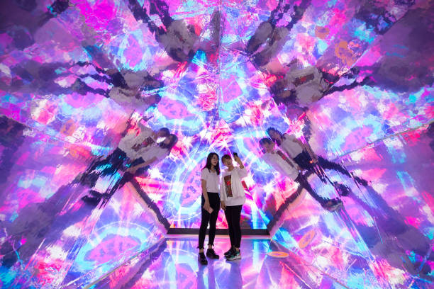 CHN: Visitors Experience 'Kaleidoscope' Installation In Hohhot