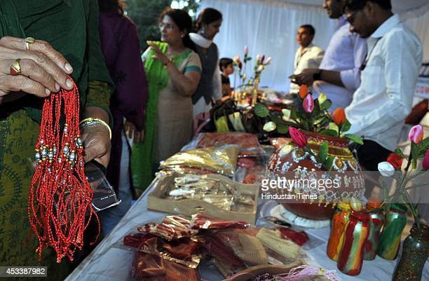Visitors thronged to see handicraft and gift items prepared by female inmates during art and craft bazar outisde the district jail on August 9 2014...
