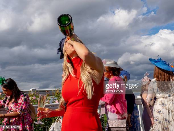 Visitors to day three Ladies' Day of Royal Ascot on June 20 2019 in Ascot England