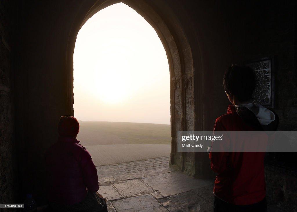 Sunrise Over The Somerset Levels : News Photo
