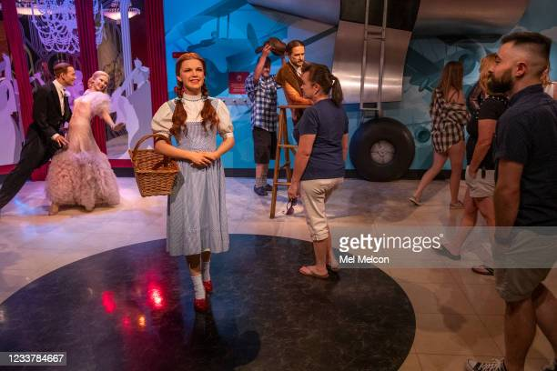 Visitors to Madame Tussauds Hollywood wax museum on Hollywood Blvd. In Hollywood check out wax figures on display including one in the likeness of...
