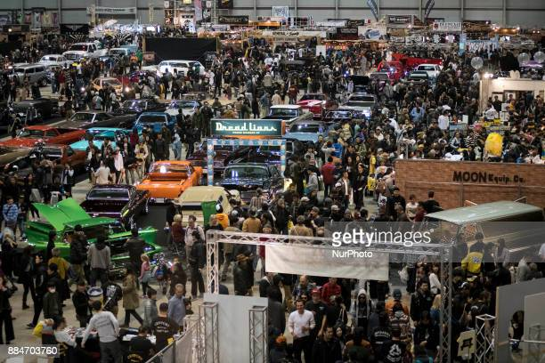 Visitors to the 26th Annual Yokohama Hot Ror Custom Show 2017 fill the show's venu December 3 2017 in Yokohama Japan For the past couple of decades...