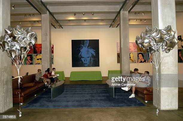 Visitors to the Andy Warhol Museum in Pittsburgh are greeted by the selfportrait of the artist as they enter the first floor of the Museum on August...