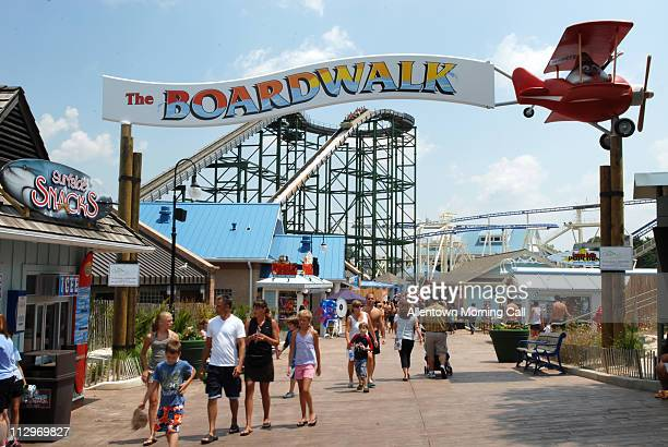Visitors to the boardwalk at Hersheypark are treated to an ocean side ambiance in the hills of Hershey Pennsylvania Friday July 6 2007