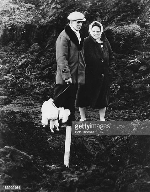 Visitors to the burial site of 10 yearold murder victim Lesley Ann Downey on Saddleworth Moor in the South Pennines circa 1965 Downey was murdered on...