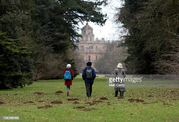 Visitors to the Forestry Commission's Westonbirt Arboretum walk through the woodland on January 24 2011 in Tetbury Gloucester England A consultation...