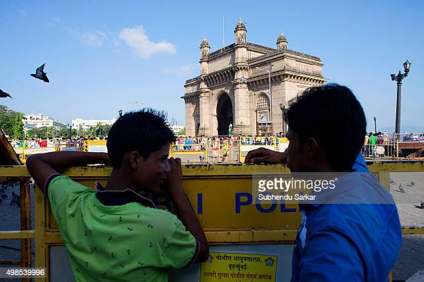 Visitors to the Gateway of India in south Mumbai Built to commemorate the visit of King George V and Queen Mary to Mumbai prior to the Delhi Durbar...
