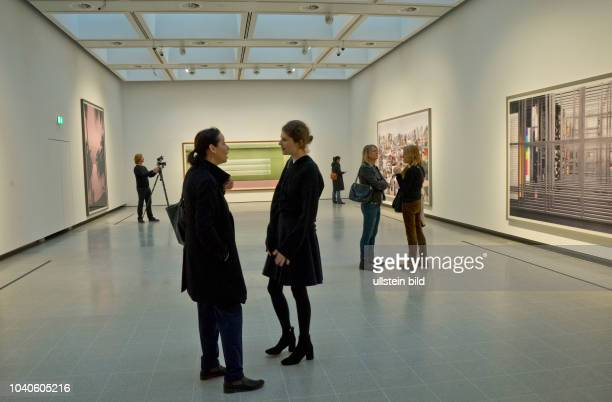 Visitors to the Hayward Gallery's 50th anniversary year exhibition following its twoyear refurbishment by German artist Andreas Gursky The gallery's...