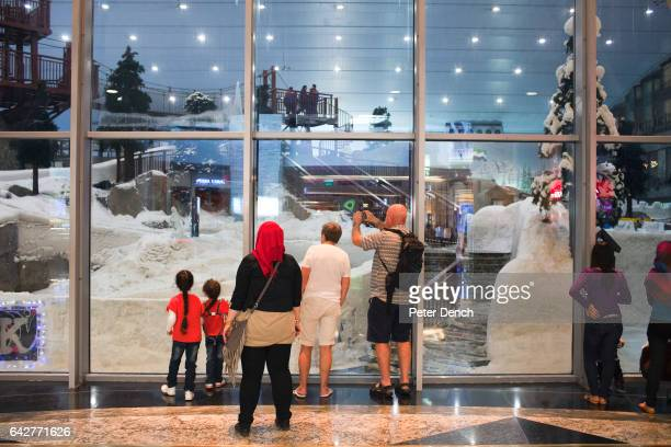 Visitors to the Mall of the Emirates watch visitors at the indoor ski slope which has a temperature of 5C The Mall of the Emirates is a premier...