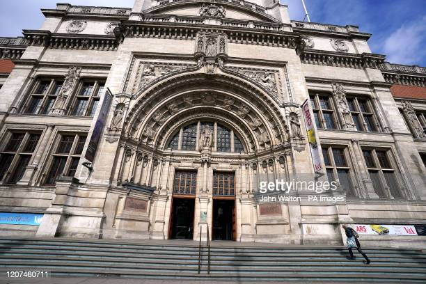 Visitors to the Victoria and Albert Museum the day after Prime Minister Boris Johnson called on people to stay away from pubs, clubs and theatres,...