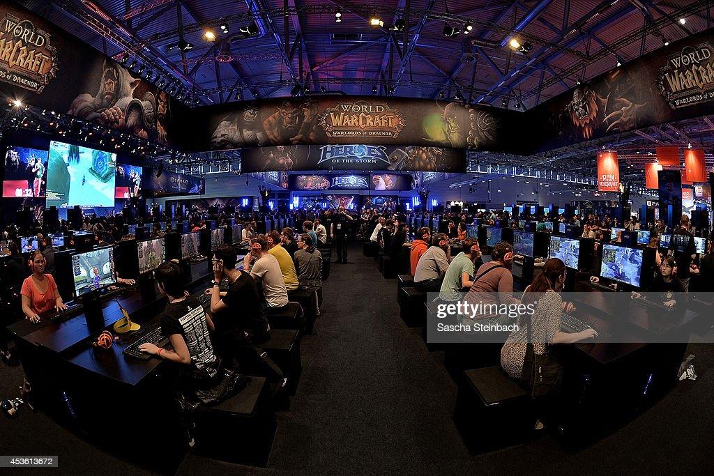 Gamescom 2014 Gaming Trade Fair : News Photo