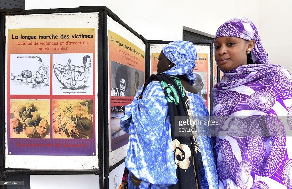 SENEGAL-CHAD-HABRE-JUSTICE-EXHIBITION : News Photo