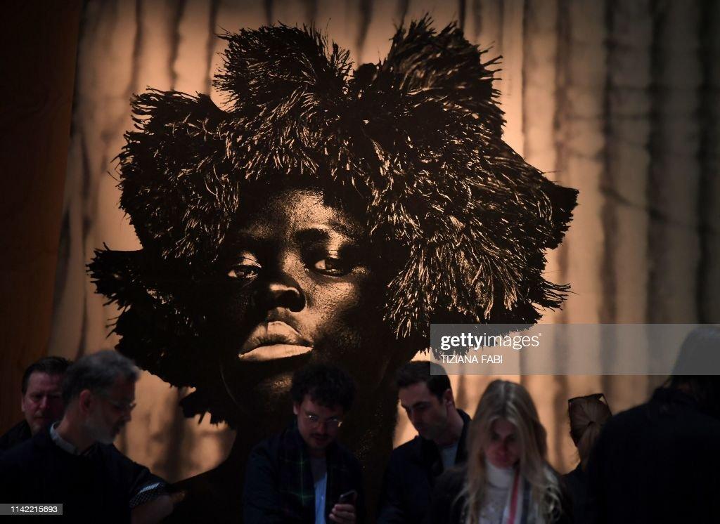 ITALY-CULTURE-ARTS-VENICE-BIENNALE : News Photo