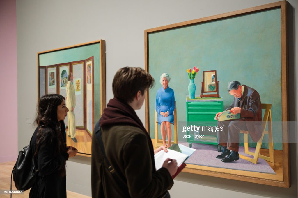 Extensive Exhibition Of David Hockney Paintings Previews At The Tate Britain : News Photo