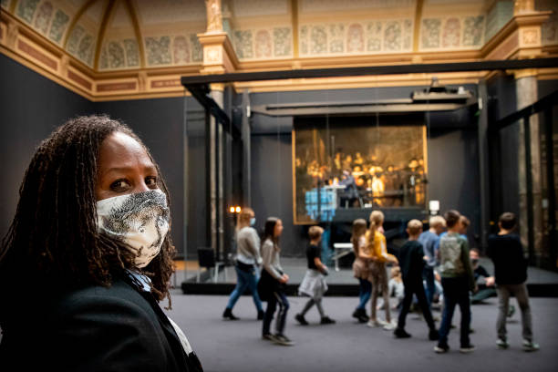 NLD: Visitors Wear Face Masks At Rijksmuseum In Amsterdam