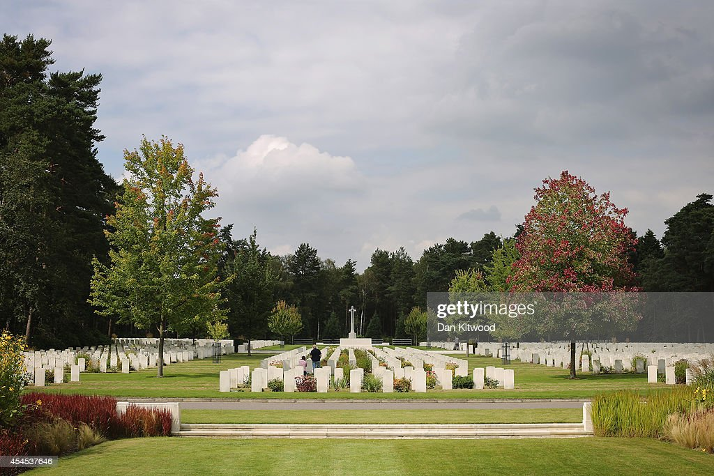 Visitors walk around the Brookwood Military Cemetery on September 3, 2014 in London, England. Brookwood Military Cemetery in Surrey, is the largest Commonwealth War Cemetery in the UK. Today marks the 75th anniversary of Britain entering the Second World War.