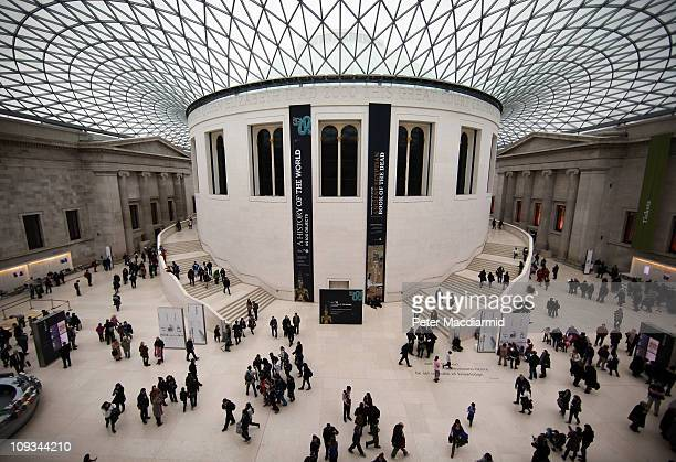 Visitors walk in The Great Court of The British Museum on February 22 2011 in London England