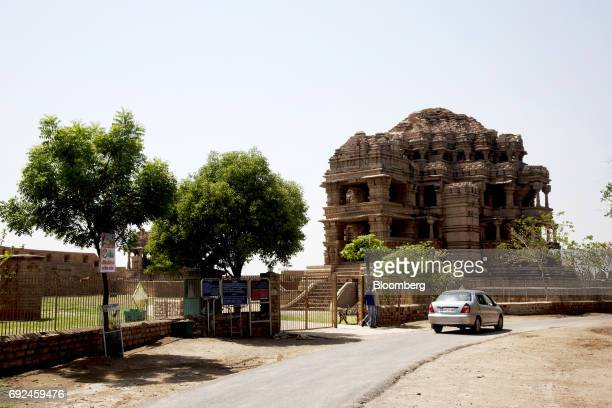 Visitors walk outside the SasBahu Temple in Gwalior Madhya Pradesh India on Friday June 2 2017 India'srates traders seem convinced recordlow...