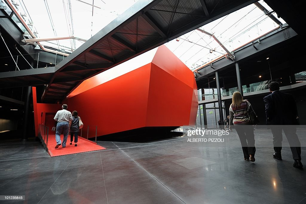 Visitors walks on May 28, 2010 through the new exhibition halls at the MACRO, Museum of Contemporary Art of Rome (Museo d'Arte Contemporanea Roma), designed by French Odile Decq during press a preview in Rome .