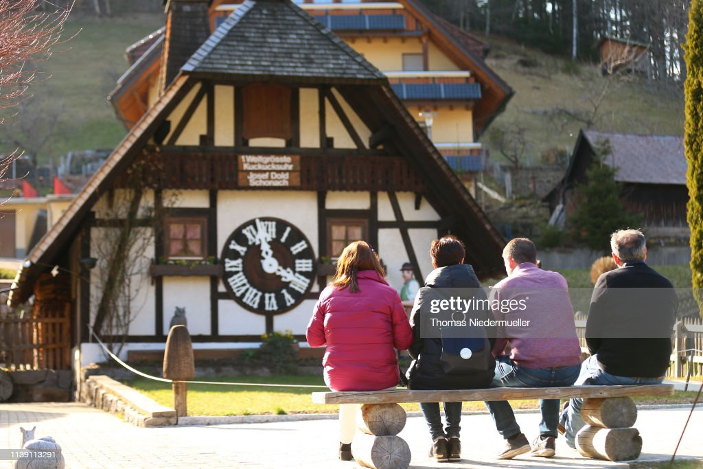 DEU: World's Largest Cuckoo Clocks Compete In The Black Forest