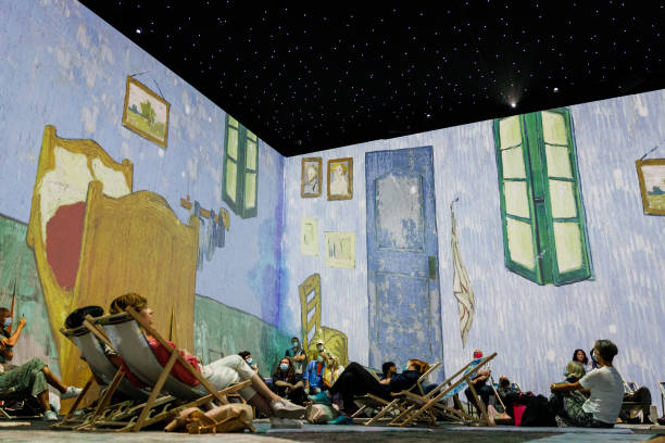 """GBR: """"Van Gogh: The Immersive Experience"""" At The  Old Truman Brewery - Press View"""