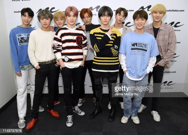 NCT 127 visits Music Choice at Music Choice on April 19 2019 in New York City